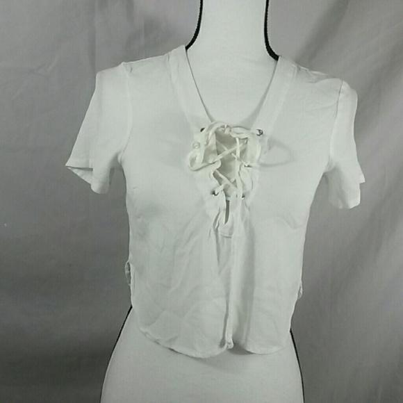 3f123916861 Brandy Melville Tops - Brandy Melville corset crop top one size